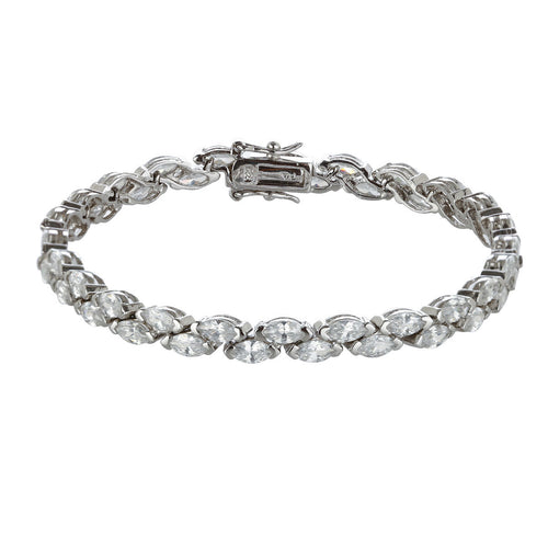 Staggered Marquis Set Tennis Bracelet