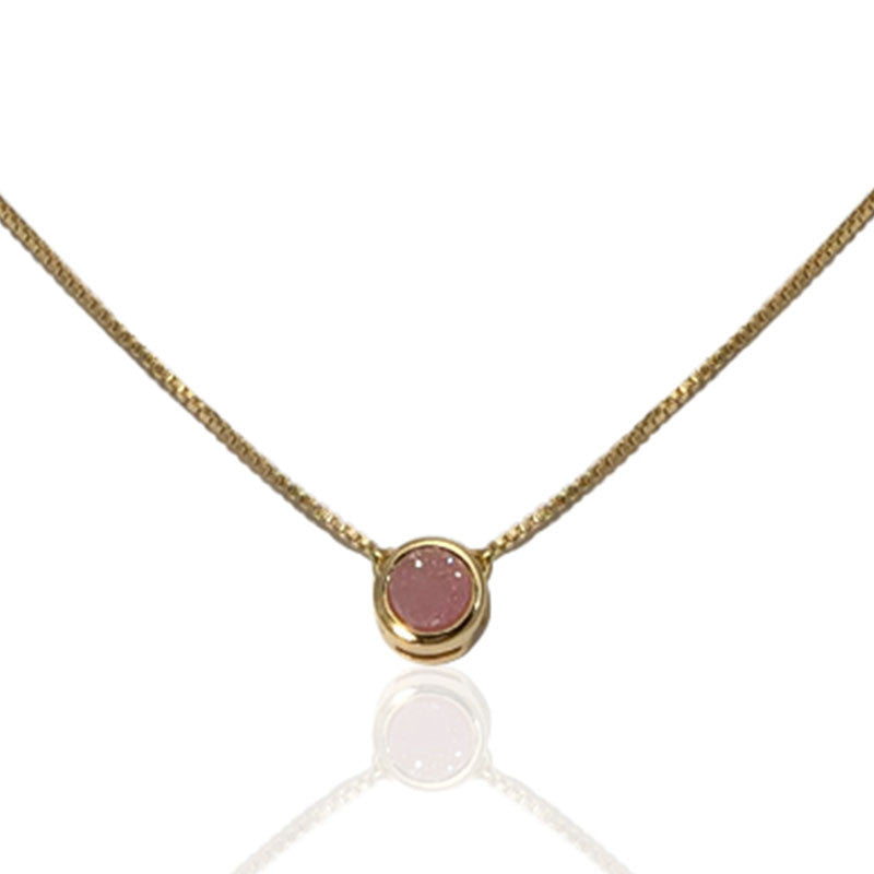 Pink Druzy Society Necklace - The Firestone Collection - Fashion Jewelry & Accessories