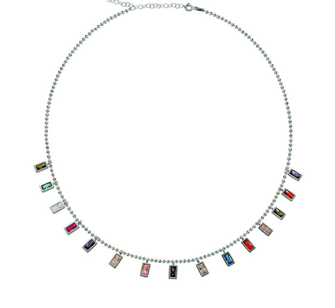 Rectangular Festival Lights Necklace - The Firestone Collection - Fashion Jewelry & Accessories