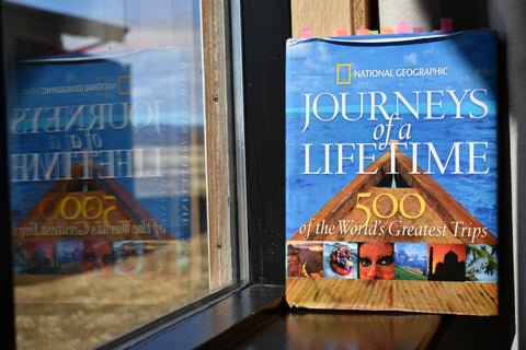 journeys of a lifetime, national feographic, 500 of the world's greatest trips, the trunk travellers, trunk travellers, pitaara handmade, pitaara