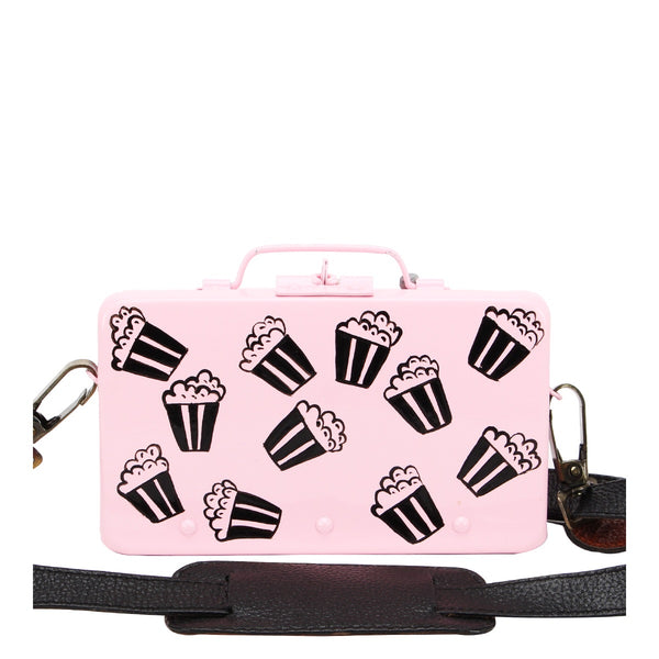 PopCorn Clutch Sling- Baby Pink