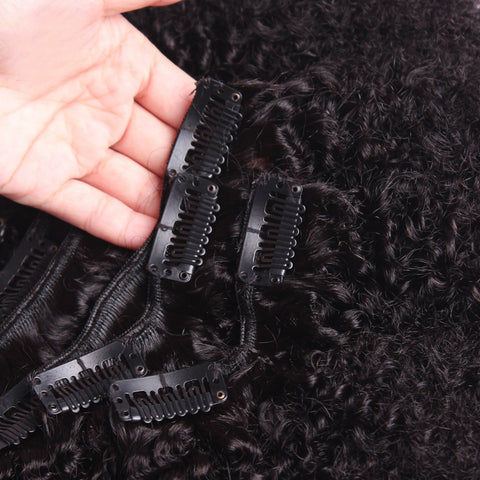 Curly Clip In Human Hair Extensions-1