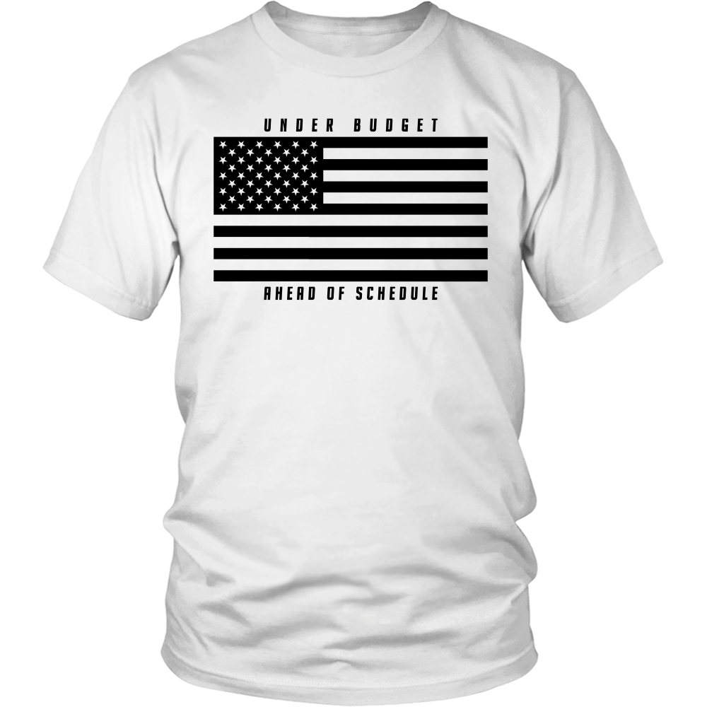 Parrot Shirts Men's Under Budget Ahead of Schedule American Flag T-Shirt