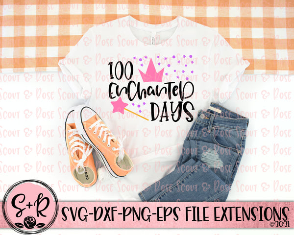 100 Enchanted Days All SVG DXF PNG (2018)