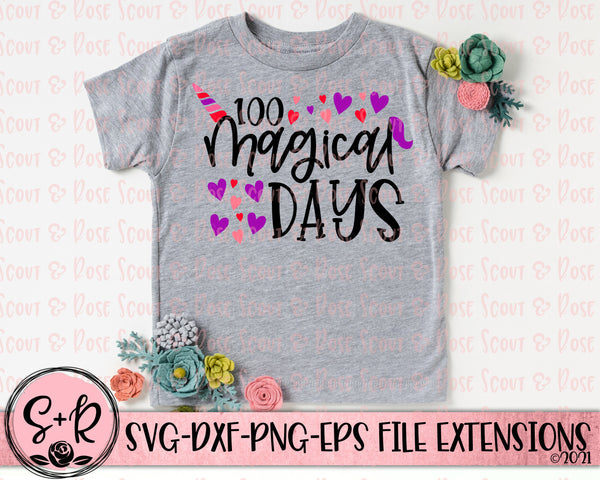 100 Magical Days All SVG DXF PNG (2018)