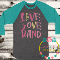 Live Love Band SVG DXF PNG