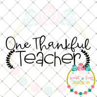 One Thankful Teacher SVG DXF PNG