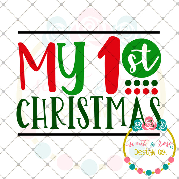 My 1st Christmas SVG DXF PNG