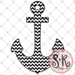 Chevron Anchor SVG DXF PNG (2019)