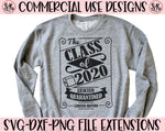 Class of 2020 SVG DXF PNG (2020)