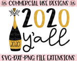 New Year 2020 Y'all SVG DXF PNG (2019)