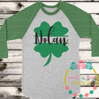Shamrock Split Monogram Frame Cut File SVG DXF PNG