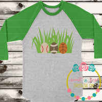 Sports Eggs In Grass SVG DXF PNG