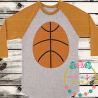 Basketball Egg SVG DXF PNG