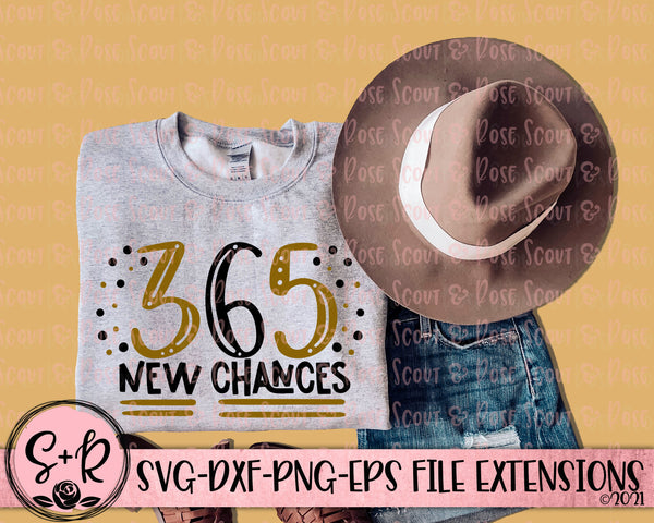 365 Chances SVG DXF PNG