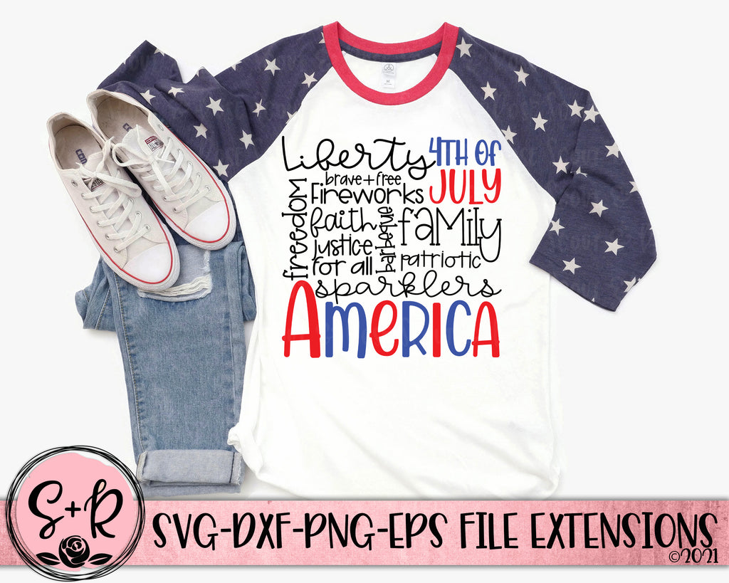 4th of July Subway Word Cloud SVG DXF PNG EPS (2020)