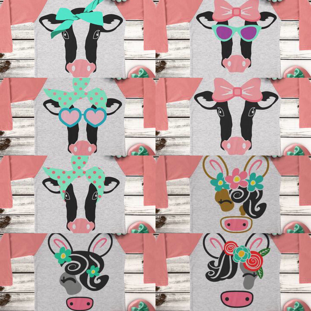 Cow Bundle SVG DXF PNG