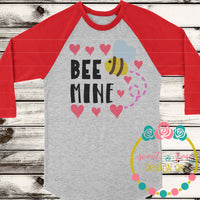 Bee Mine Valentines Day SVG DXF PNG