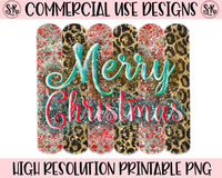 Merry Christmas Brush Strokes Printable Design (2019)