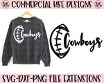Cowboys Football School Spirit SVG DXF PNG (2019)