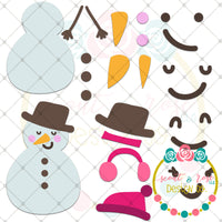 Design Your Own Snowman SVG DXF PNG