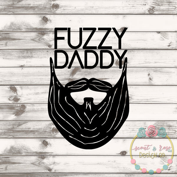 Fuzzy Beard Daddy SVG DXF PNG