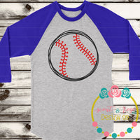 Baseball Sketch SVG DXF PNG
