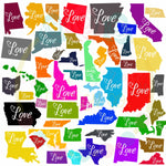 Love Home State Bundle SVG DXF PNG