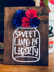 Sweet Land of Liberty Mason Jar Rolled Flower Set SVG DXF PNG