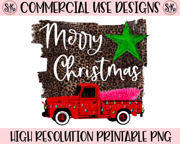 Merry Christmas Vintage Truck Printable Design (2020)
