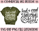 Proud Volleyball Girl SVG DXF PNG (2019)