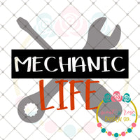 Mechanic Life SVG DXF PNG