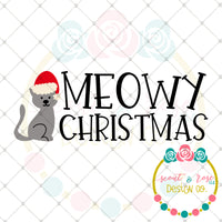 Meowy Christmas SVG DXF PNG