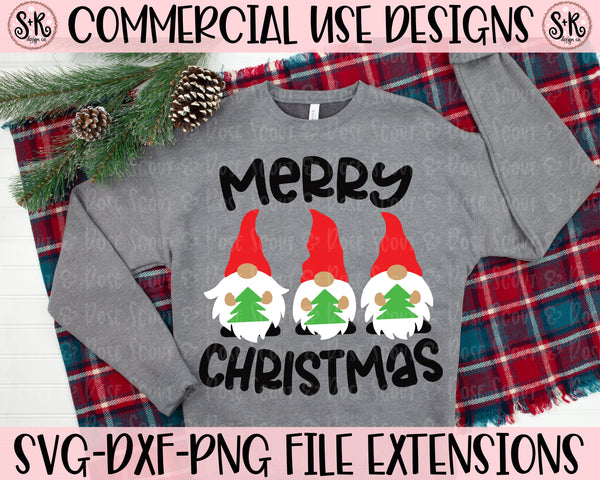 Merry Christmas Gnomes SVG DXF PNG (2020)