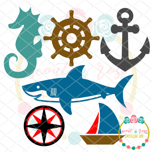 Design Your Own Nautical Set SVG DXF PNG