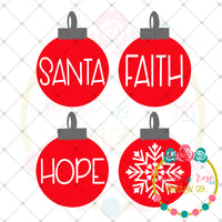 Christmas Ornaments SVG DXF PNG