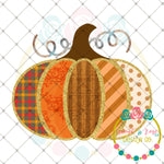 Patches Pumpkin Sublimation Design