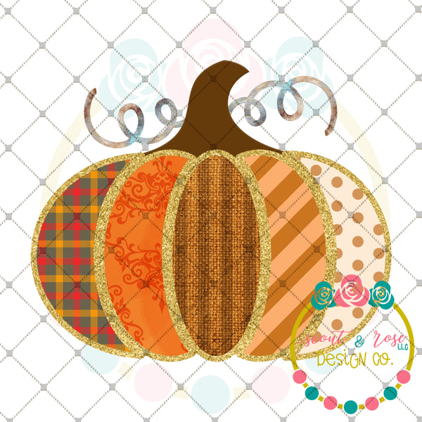 Patches Pumpkin Printable Design