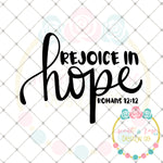 Rejoice in Hope SVG DXF PNG