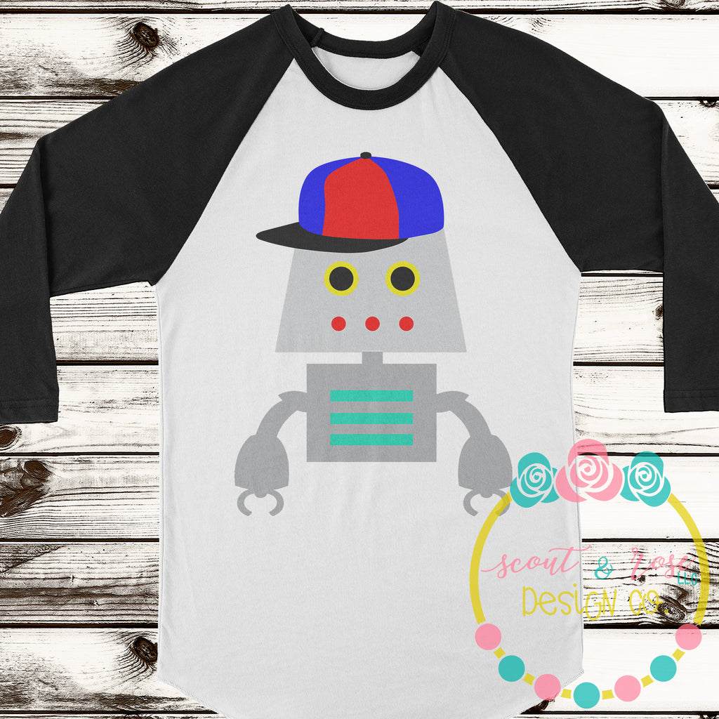 Robot with Cap SVG DXF PNG