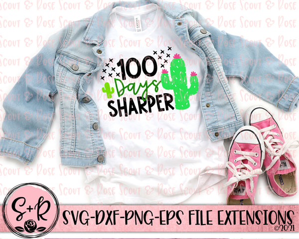 100 Days Sharper SVG DXF PNG (2019)