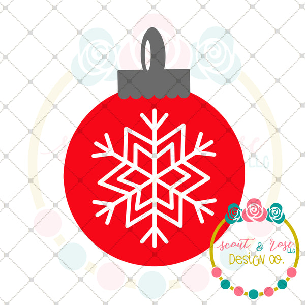 Snowflake Christmas Ornament SVG DXF PNG