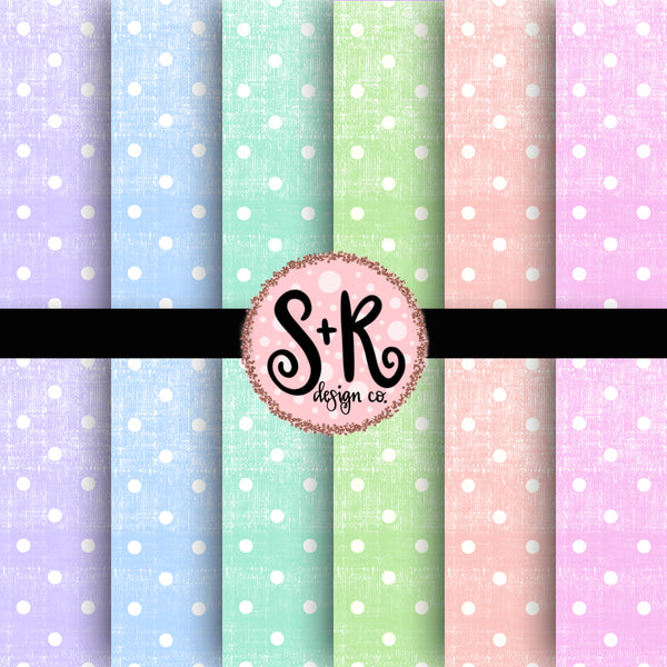 Canvas Pastel Polka Dot Digital Papers (2019)