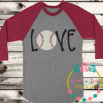Love Baseball SVG DXF PNG