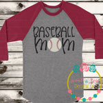 Baseball Mom SVG DXF PNG
