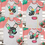 Cutie Floral Cow Animal Bundle SVG DXF PNG