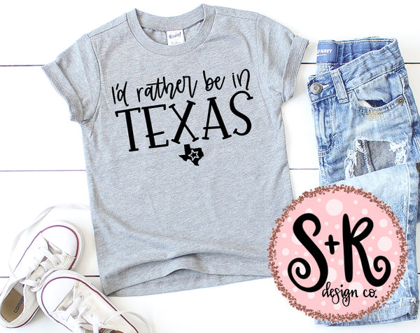 Rather Be in Texas SVG DXF PNG (2019)