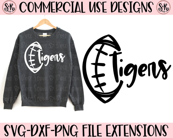 Tigers Football School Spirit SVG DXF PNG (2019)