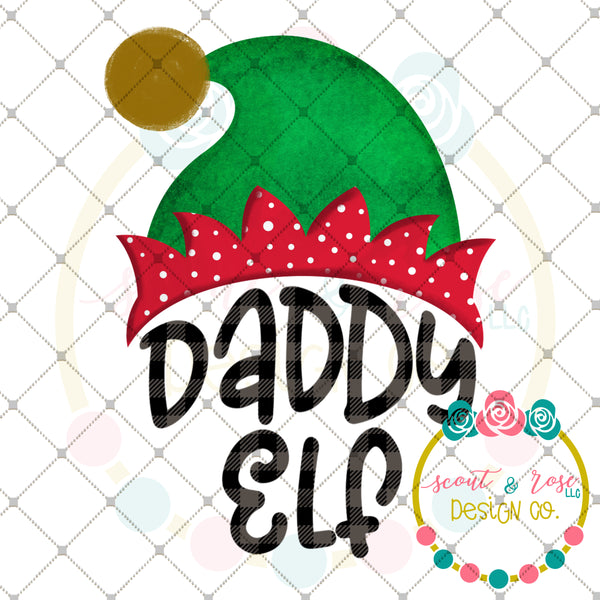 Daddy Elf Sublimation Design