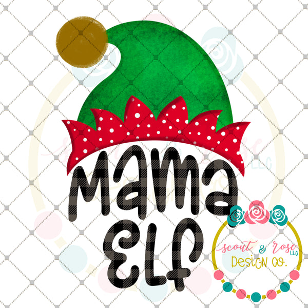 Mama Elf Sublimation Design